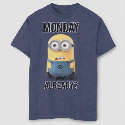 Boys' Despicable Me Minions Monday Already T-Shirt - Navy