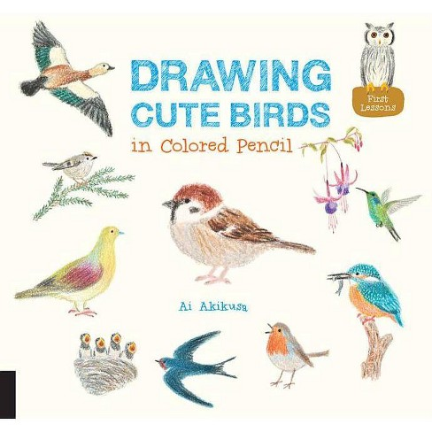 Drawing Cute Birds in Colored Pencil - by  Ai Akikusa (Paperback) - image 1 of 1