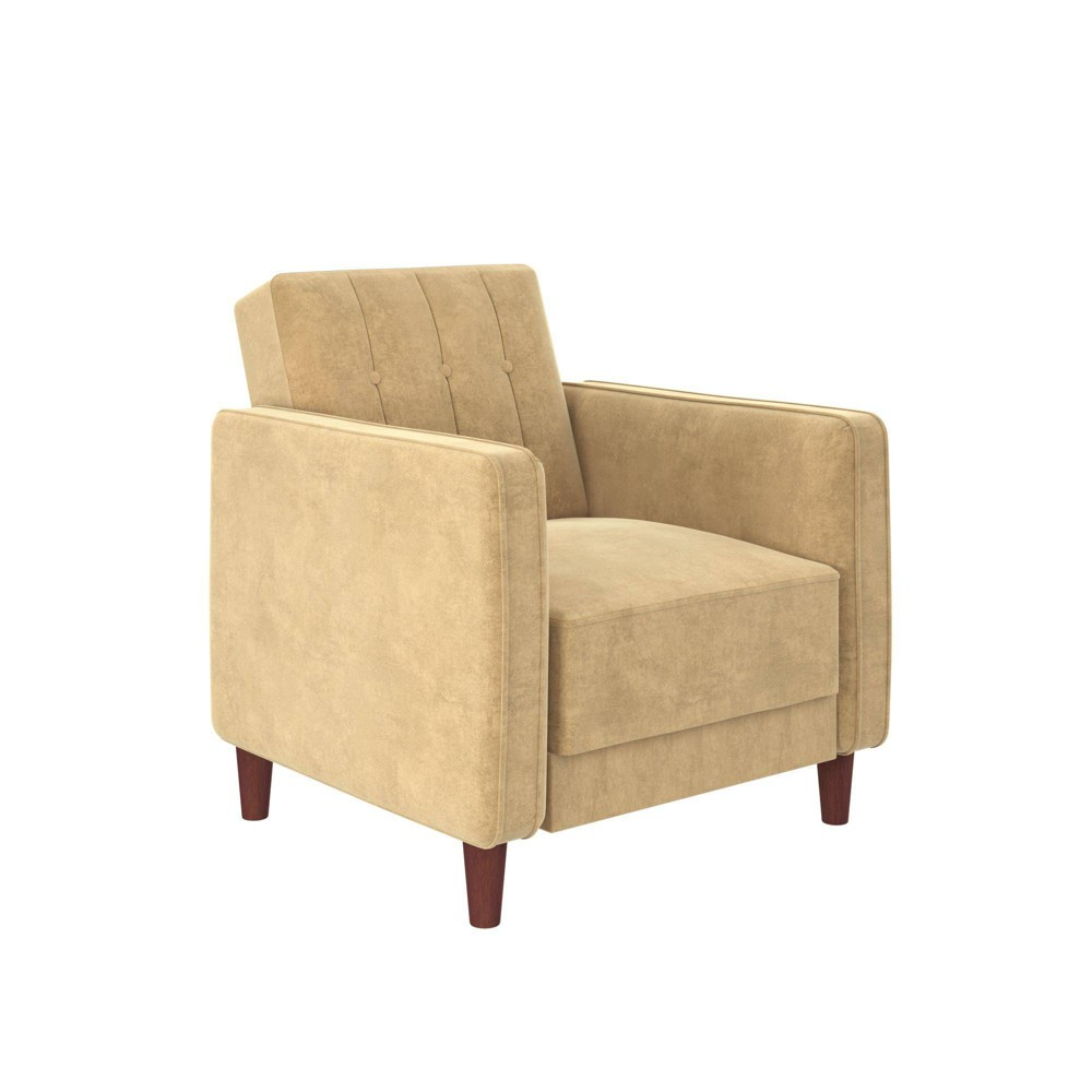 Isabella Tufted Accent Chair Tan - Room & Joy