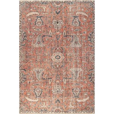 nuLOOM Sariyah Printed Floral Flatweave Area Rug