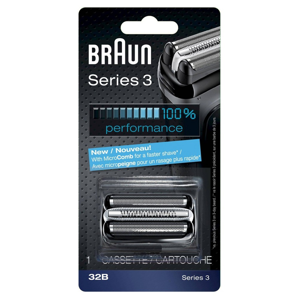 Braun Shaver Replacement Part 32 B Black - Compatible with Series 3 shavers Get your shaver back to 100 percent performance with the Braun Series 3 32b replacement head. Braun recommends changing your shaver's blades every 18 months to maximize shaving performance and comfort. With this replacement head you will get back to the superior close shave you have come to expect from Braun. Get more details at Visit Braun Website. Gender: Male.