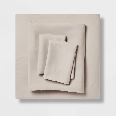 King Garment Washed Microfiber Solid Sheet Set Gray - Room Essentials™