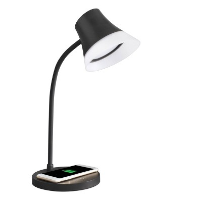 Shine Desk Lamp Wireless Charging (Includes LED Light Bulb) Black - OttLite