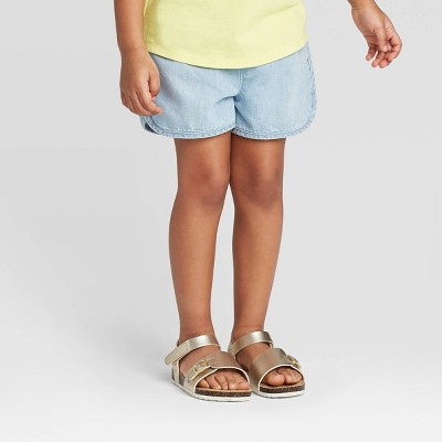 Toddler Girls' Woven Pull-On Shorts - Cat & Jack™ Light Blue 18M