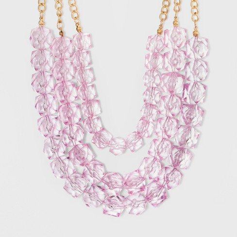 SUGARFIX by BaubleBar Beads Lustrous Statement Necklace - Lilac - image 1 of 3