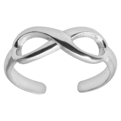 Women's Tressa Collection Adjustable Infinity Toe Ring - Silver - image 1 of 2