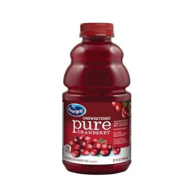 Ocean Spray 100% Pure Cranberry Juice - 32 fl oz Bottle