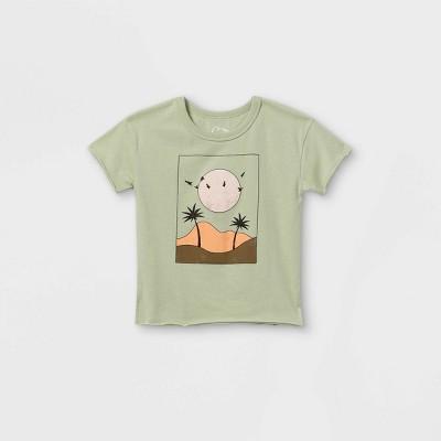 Toddler Palm Scene Short Sleeve T-Shirt - art class™ Teal