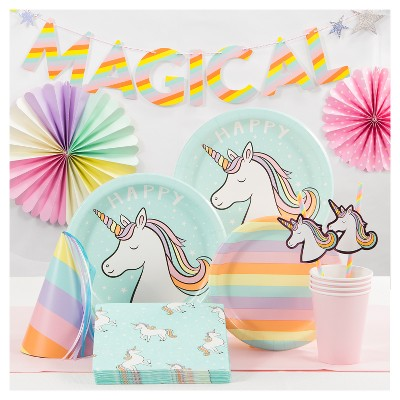 Enchanted Forest Unicorn Party Supplies Collection