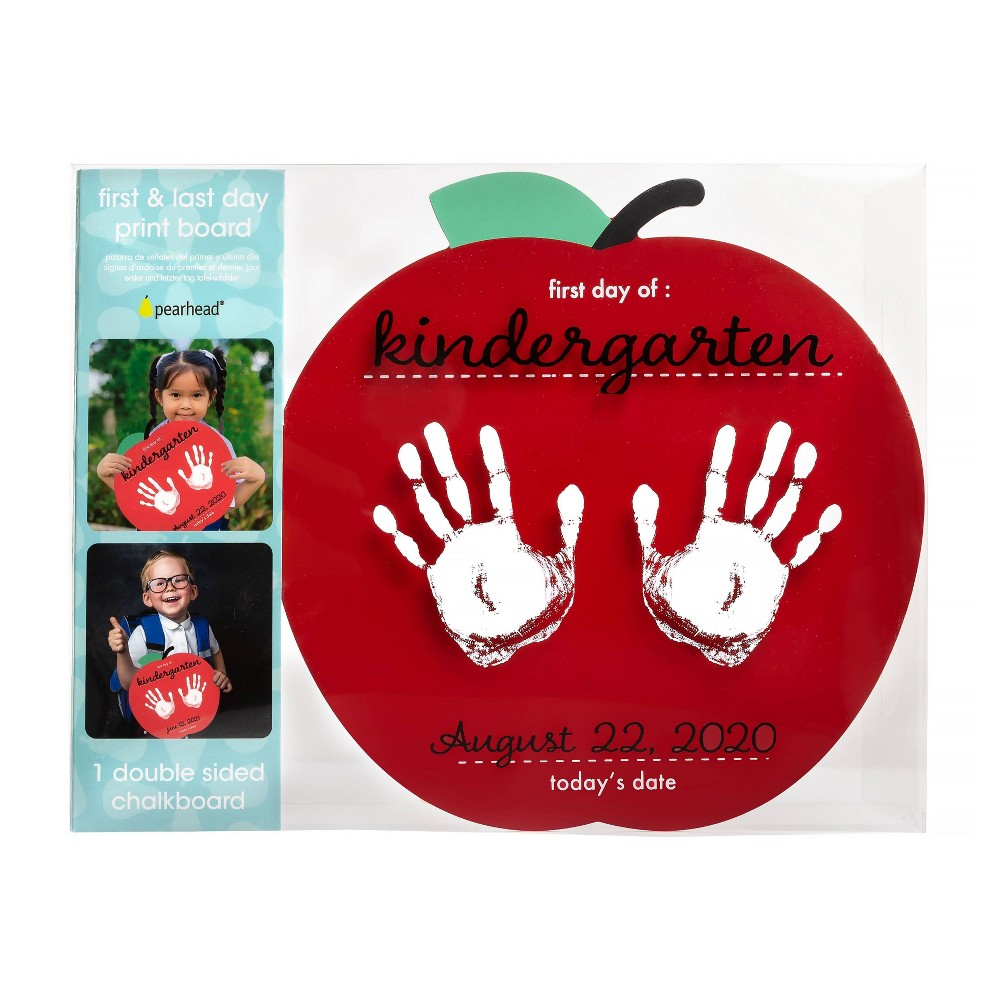 Pearhead First And Last Day Of School Handprint Board Apple