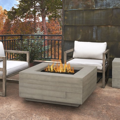 Board Form Square Propane Table with Natural Gas Conversion Kit Gray - Real Flame - image 1 of 8