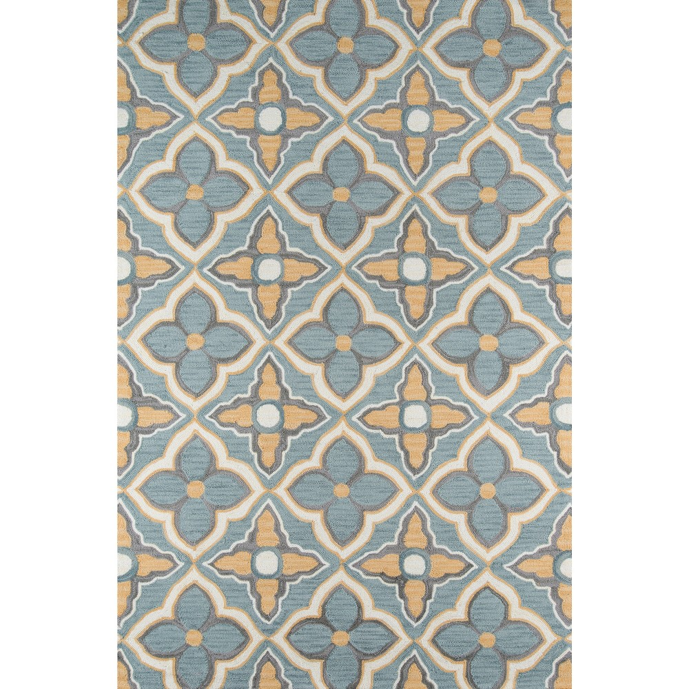 5'X7'6 Floral Area Rug Gold/Gray - Momeni