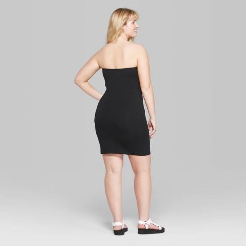 a6276e6b556 Women's Plus Size Strapless Knit Dress - Wild Fable™ Black 2X