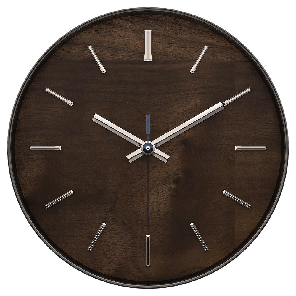 Hastings 12 Wall Clock Brown Maple Finish - TimeKeeper