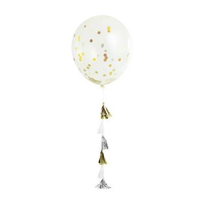 Metallic Confetti Tassel Balloon - Spritz™