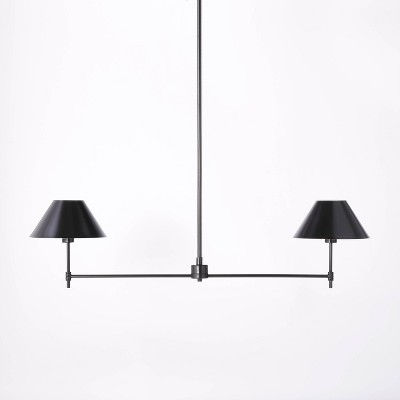 Metal Two Arm Shaded Chandelier Ceiling Light - Threshold™ designed with Studio McGee