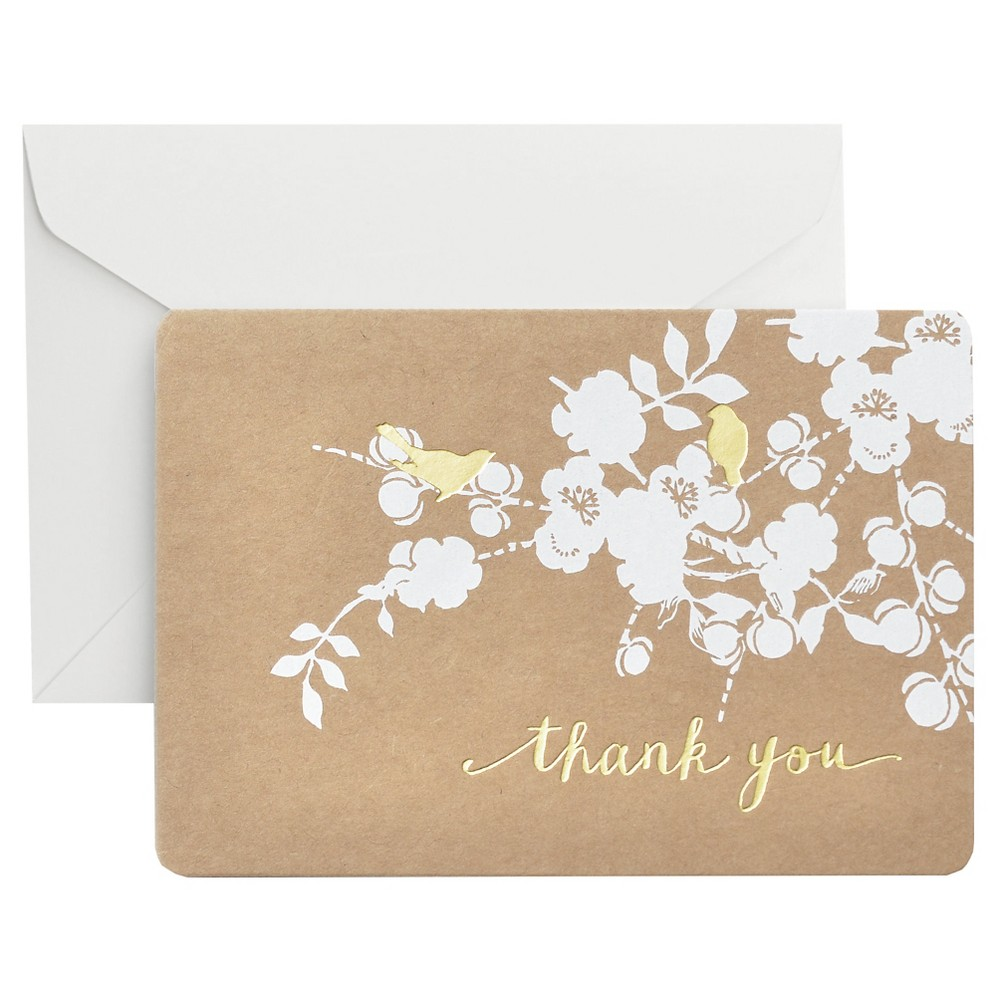 "Image of ""50ct Foil Kraft """"Thank You"""" Card Packs"""