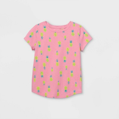 Girls' Printed Short Sleeve T-Shirt - Cat & Jack™ Peony Pink