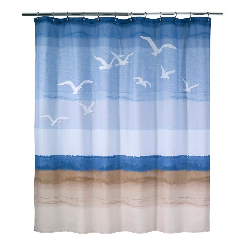 Seagulls Shower Curtain White/Blue - Avanti® - image 1 of 1