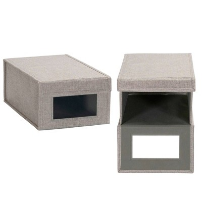 Household Essentials Drop Front Vision Storage Box Silver
