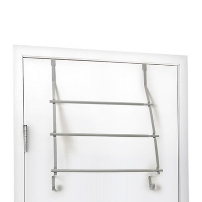 Over-The-Door Towel Rack Matte Silver - Totally Bath