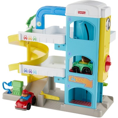 Fisher-Price Little People Helpful Neighbors Wheelie Garage