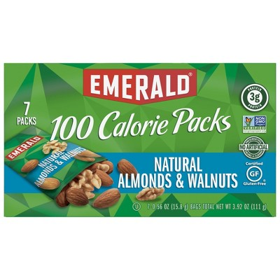 Emerald Natural Walnuts and Almonds 100 Calorie Packs - 3.92oz/7ct