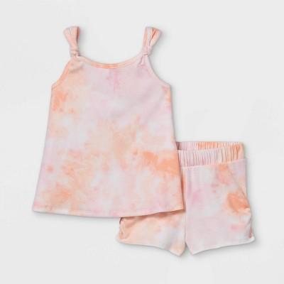 Toddler Girls' 2pc Ribbed Tank Top & Bottom Set - art class™