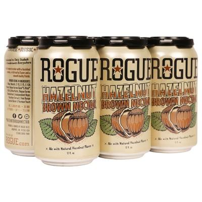 Rogue Hazelnut Brown Nectar Ale Beer - 6pk/12 fl oz Cans