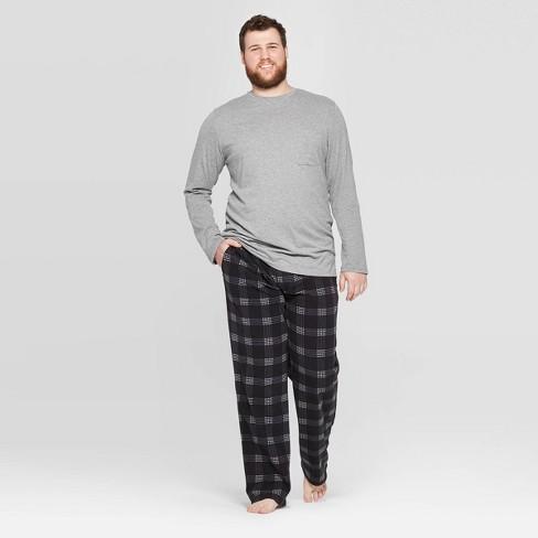 Men's Big & Tall Microfleece Pajama Set - Goodfellow & Co™ Gray  - image 1 of 2