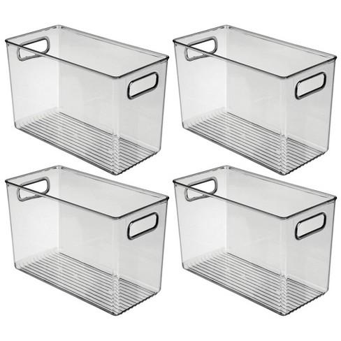 mDesign Plastic Kitchen Food Storage Organizer Bin, Handles, 4 Pack - image 1 of 4