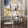 """Studio 55D Page 29 1/2"""" High Glass and Chrome Rolling Serving Bar Cart - image 3 of 4"""