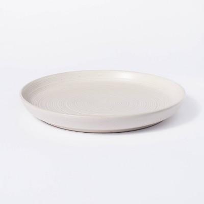 "12"" Stoneware Round Serving Platter Cream - Threshold™ designed with Studio McGee"