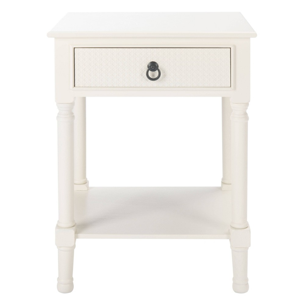 Haines 1 Drawer Accent Table White Safavieh