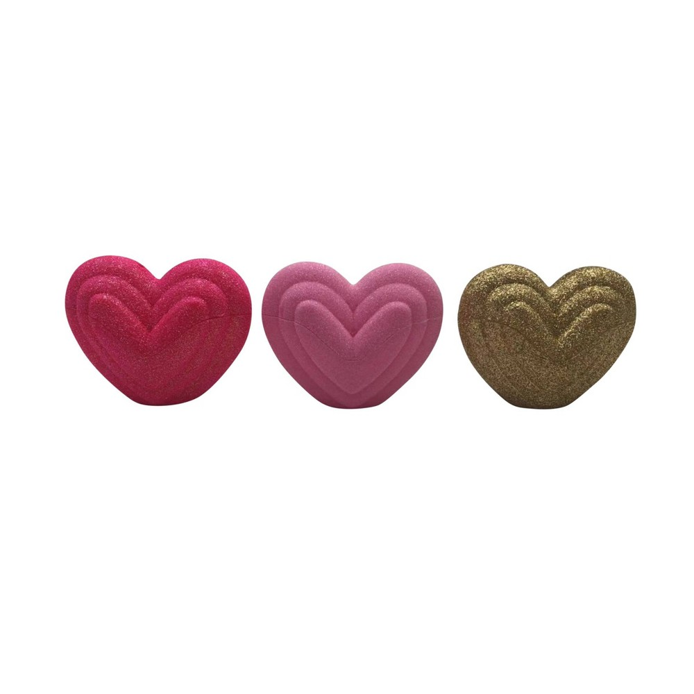 Image of 3ct Valentine's Fillable Plastic Heart Red/Pink - Spritz