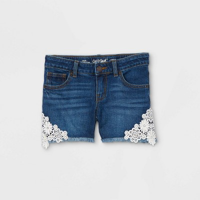 Girls' Side-Lace Jean Shorts - Cat & Jack™