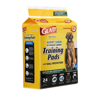 Glad Activated Carbon Dog Training Pads Giant Size - 24ct