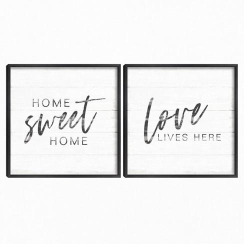 Set of 2 Home Inspiration I & II Framed Canvas Art Prints - Masterpiece Art Gallery - image 1 of 4