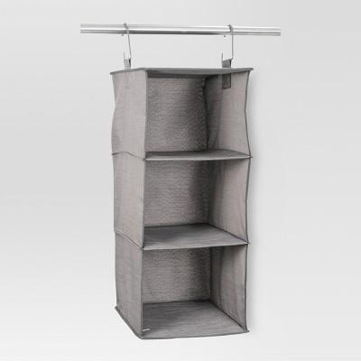 3-Shelf Hanging Closet Organizer Gray Birch - Threshold™