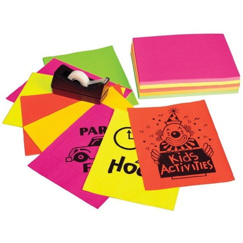 Pacon Neon Multi-Purpose Paper, 8-1/2 x 11 Inches, 24 lb, Assorted Neon Colors, pk of 100 - image 1 of 1