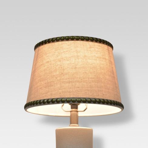 Nailhead Trim Lamp Shade Cream Threshold