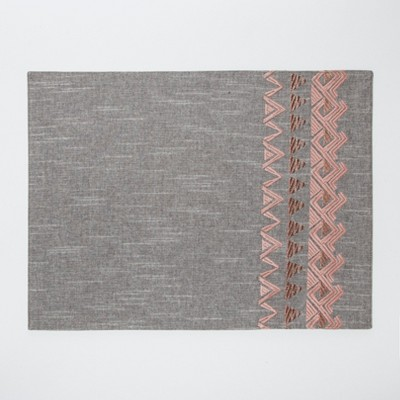 Gray Metallic Rose Placemat - Project 62™