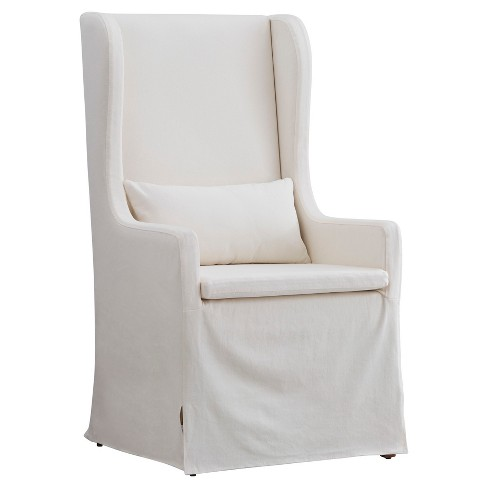 Walton Park Slipcovered Wingback Hostess Chair - Cream - Inspire Q - image 1 of 6