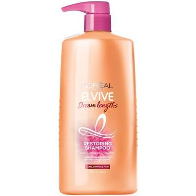 L'Oreal Paris Elvive Dream Lengths Restoring Shampoo for Long, Damaged Hair - 28oz