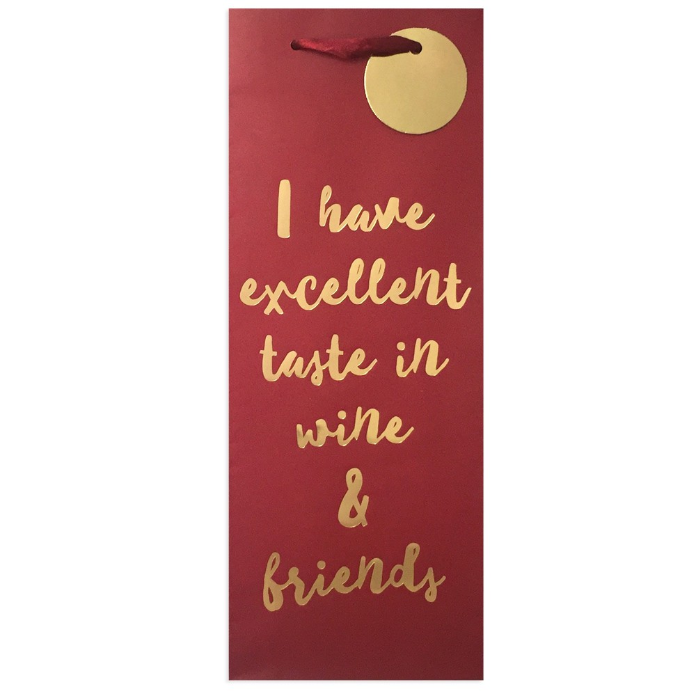 """Image of """"""""""""I Have Excellent Taste In Wine & Friends"""""""" Wine Bag - Spritz"""""""