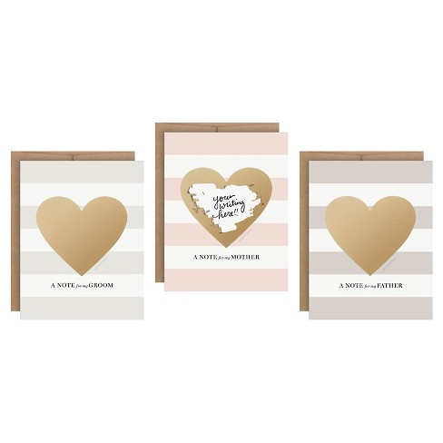 3ct Heart Shaped Family Scratch-off Greeting Cards - image 1 of 4