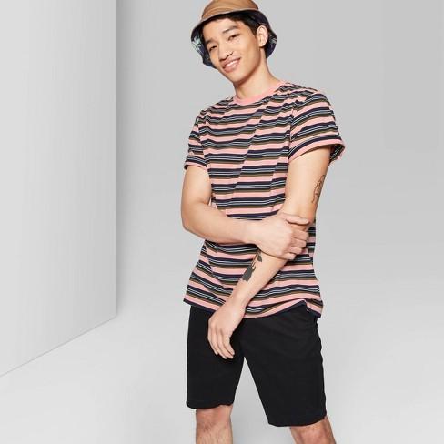 Men's Striped Retro Short Sleeve T-Shirt - Original Use™ - image 1 of 3