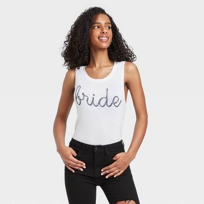 Women's Bride Graphic Tank Top - White