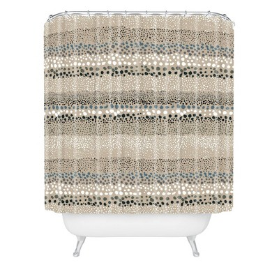 Ninola Design Little Textured Dots Shower Curtain Sand - Deny Designs