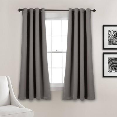 Set of 2 Insulated Grommet Top Blackout Curtain Panels - Lush Décor